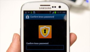 Samsung Galaxy S4 with Knox Security Software